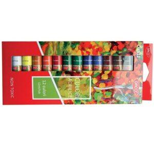 culori acrilice 12 culori 12 ml
