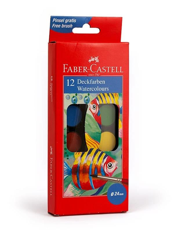 acuarele 12 culori faber castell