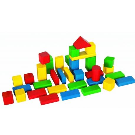 set cuburi lemn