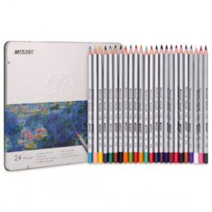 creioane colorate cutie metalica